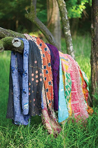 Recycled Kantha Throws-Assorted Sizes And Patterns - Les Spectacles French Industrial