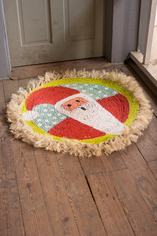 Seagrass Santa Rug With Sisal Border - Les Spectacles French Industrial