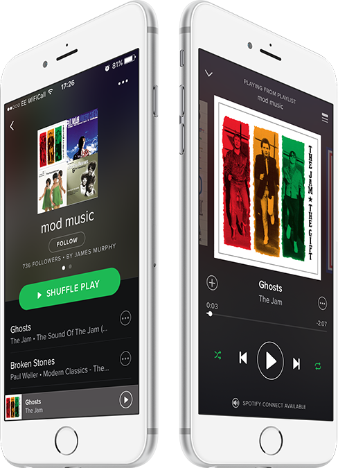 Lammyman spotify playlist displayed on a mobile device