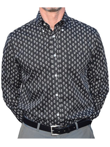 Art Gallery Black & White Paisley Shirt