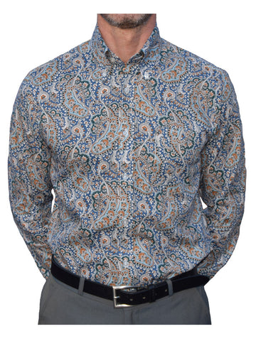 Art Gallery Blue Paisley Shirt