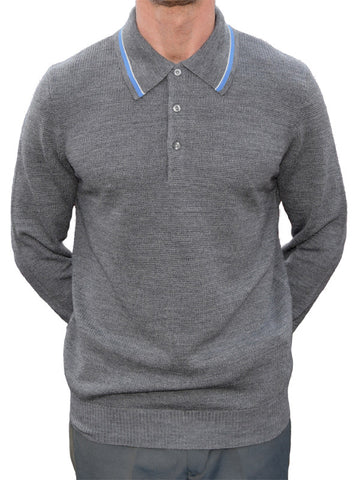 Art Gallery Grey Tipped Polo Shirt