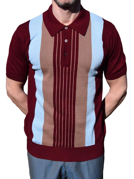 Art Gallery Wine Stripped Polo