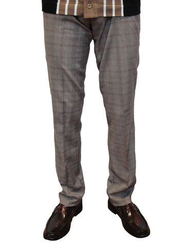 Chenaski Brown Check Trousers