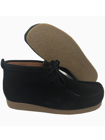 Delicious Junction Black Suede Wallabee Boots