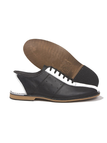 Delicious Junction Black & White Bowling Shoes
