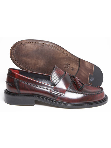 Delicious Junction Oxblood Ace Punch Loafers