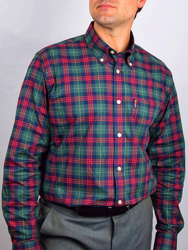 Trojan Records Forest Green Tartan Long Sleeve Shirt