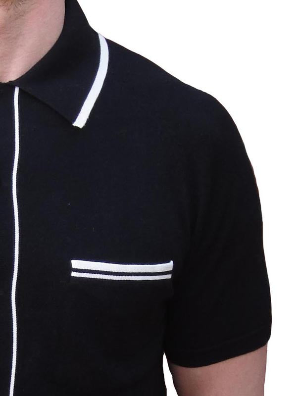 Art Gallery Black Short Sleeve Cardigan