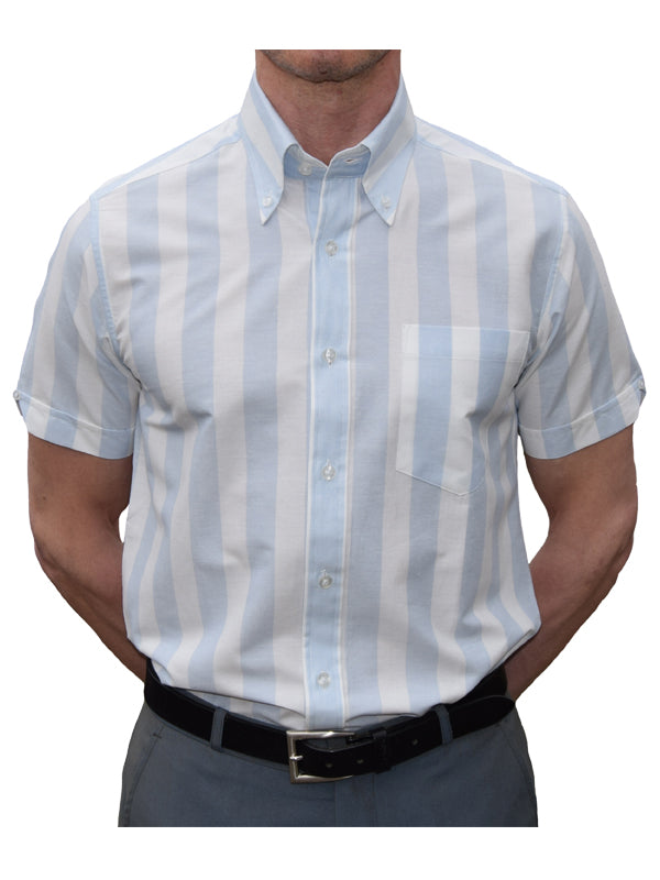 Art Gallery Blue & White Stripe Shirt