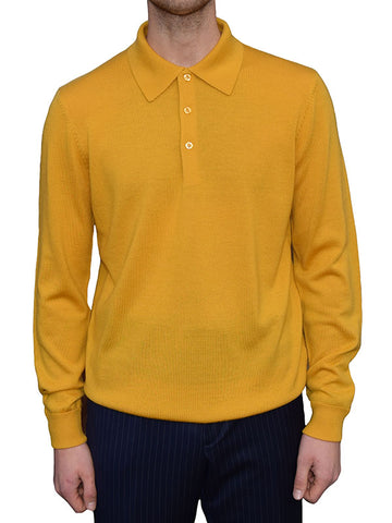 Art Gallery Mustard Knitted Polo