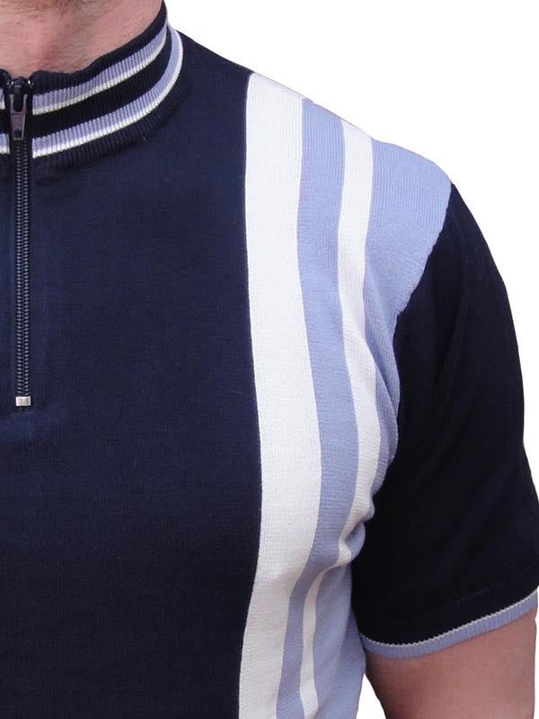 Art Gallery Navy Cycle Top