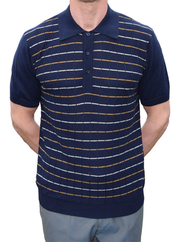Art Gallery Navy Check Polo