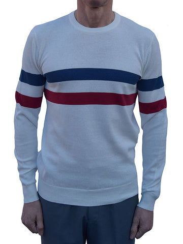 Art Gallery Off White Stripe Jumper
