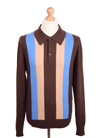 Art Gallery Chocolate Striped Polo