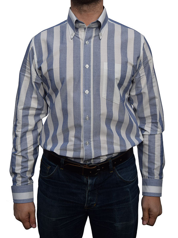 Art Gallery Navy & White Candy Stripe Shirt