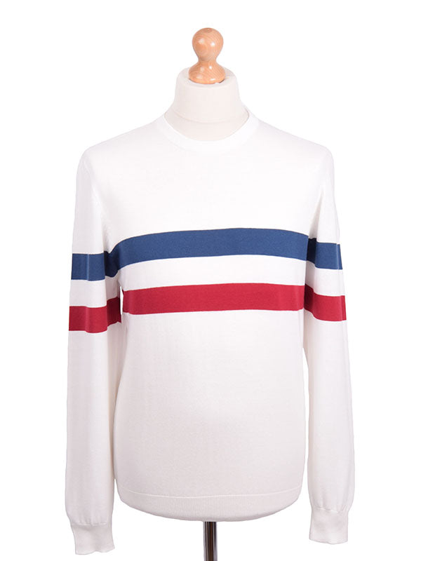 Art Gallery Off White Striped Jumper