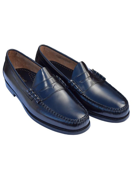 Bass Weejun Black Larson Penny Loafers
