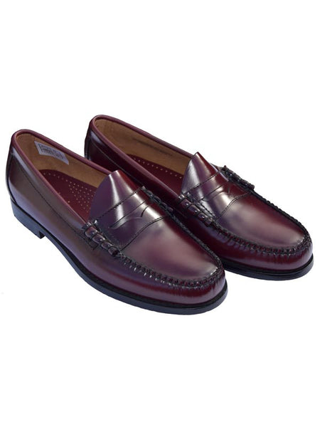 Bass Weejun Wine Larson Penny Loafers