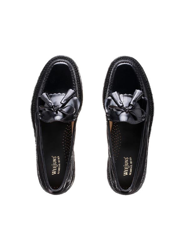 Bass Weejun Black Layton Kiltie Loafers