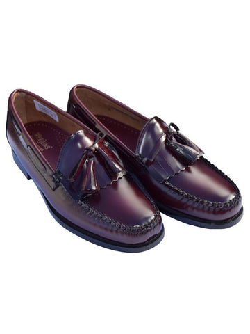 Bass Weejun Wine Layton Kiltie Loafers