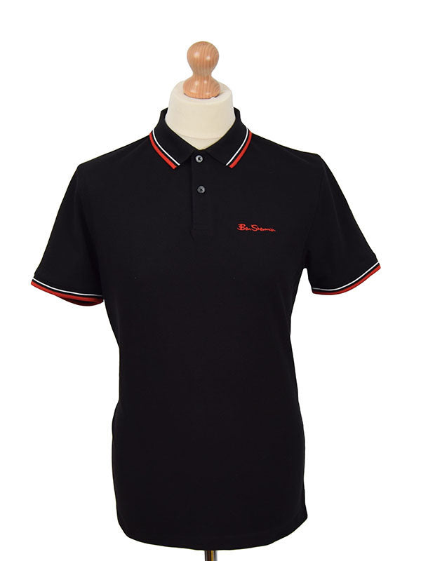 Ben Sherman Black Tipped Signature Polo