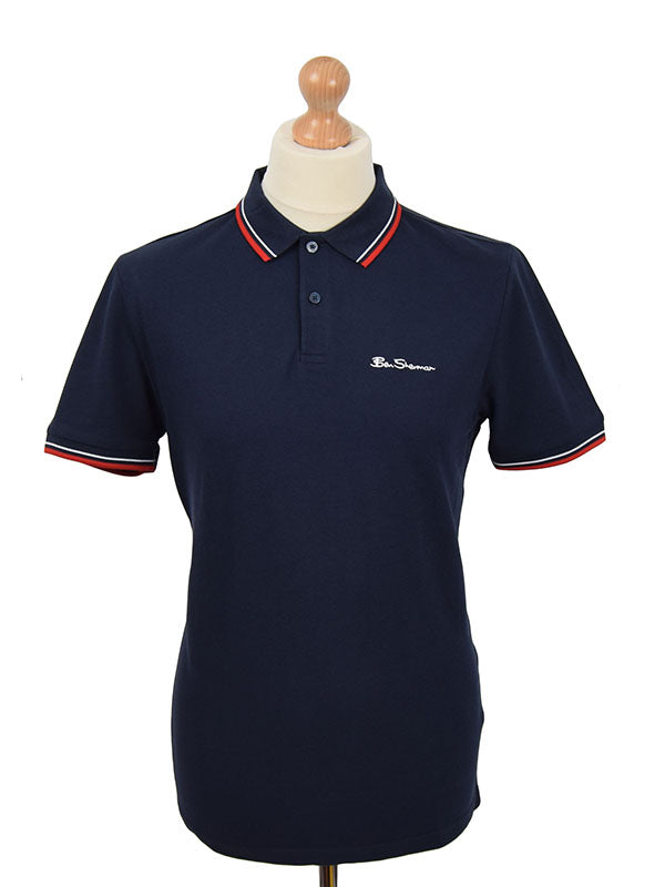 Ben Sherman Navy Tipped Signature Polo