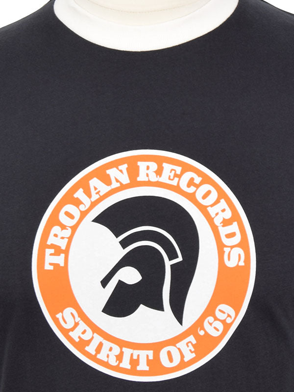 Trojan Records Black Spirit Of '69 Logo T Shirt