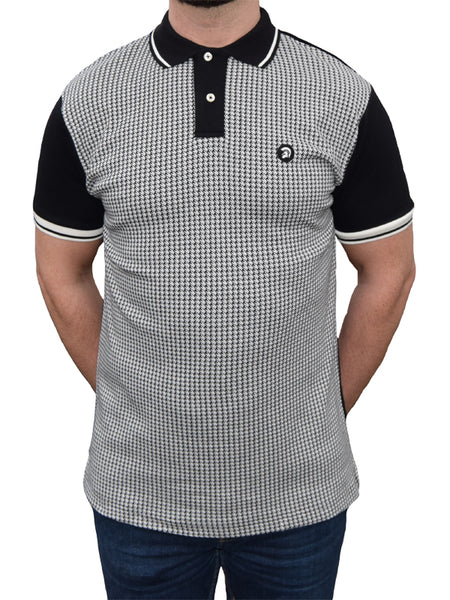 Trojan Records Black Houndstooth Front Polo Shirt