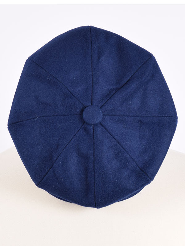 50c9714c585 Peaky Blinders Retro Blue Wool Newsboy Cap—Lammy Man Ska