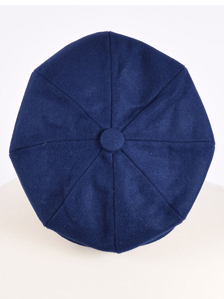 Peaky Blinders Retro Blue Wool Newsboy Cap