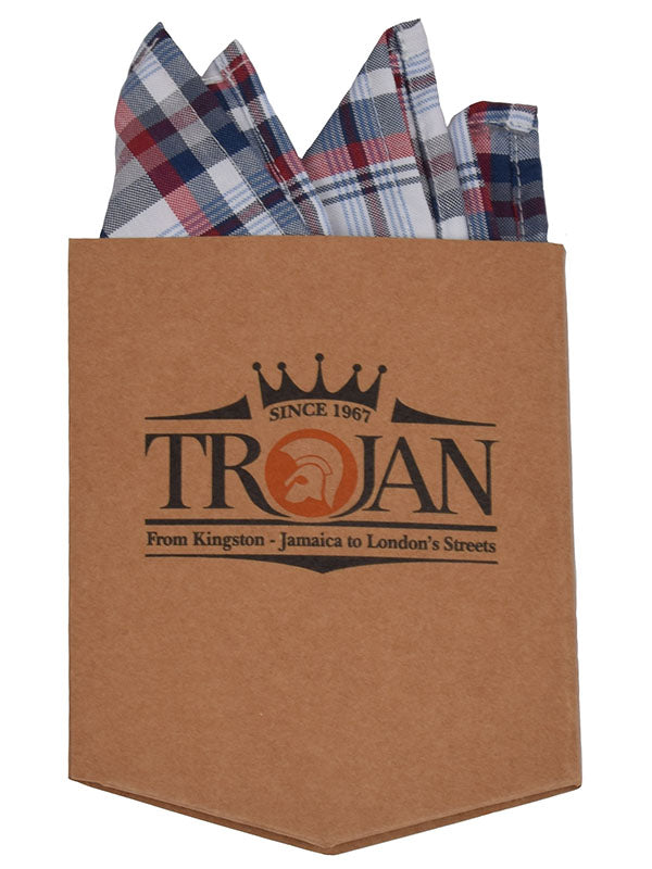 Trojan Records White Blue & Blood Check Shirt With Handkerchief