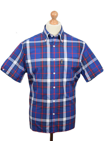 Trojan Records Blue Madras Shirt With Handkerchief