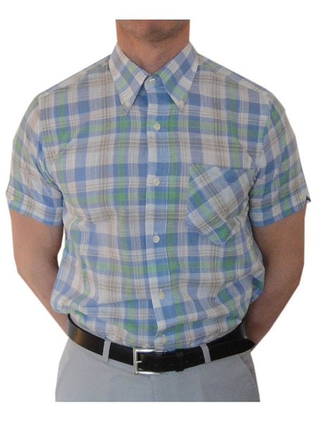 Britac Blue & Green Check Shirt
