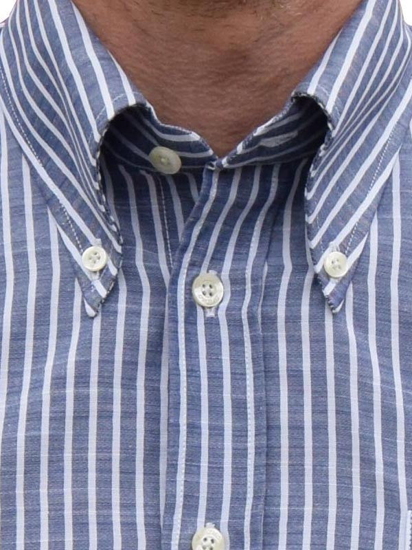 Britac Blue & White Striped Shirt