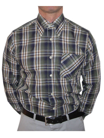 Britac Green & Navy Check Shirt