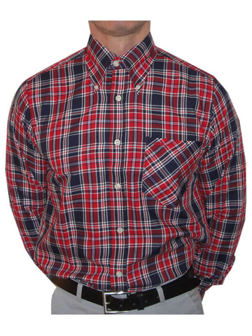Britac Red & Navy Check Shirt