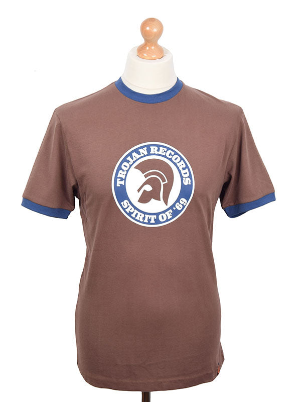 Trojan Records Chocolate Spirit Of '69 Logo T Shirt