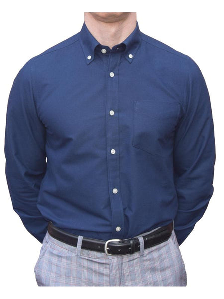 Brutus Navy Long Sleeve Oxford Shirt