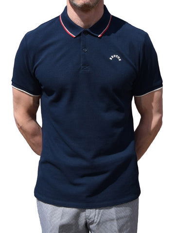 Brutus Navy Twin Tipped Polo Shirt