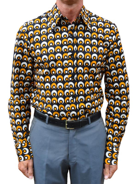 Chenaski Black Yellow & Creme Eyeball Shirt