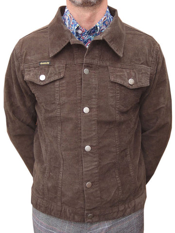 Chenaski Brown Corduroy Western Jacket