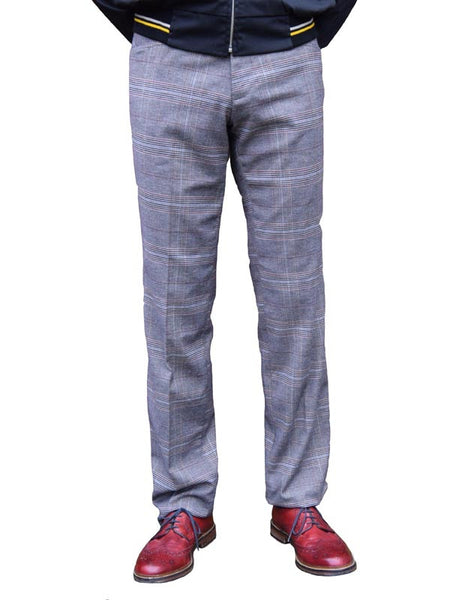 Chenaski Grey Check Trousers