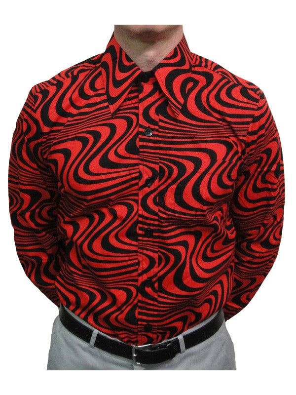 Chenaski Red & Black  Wavyline Shirt
