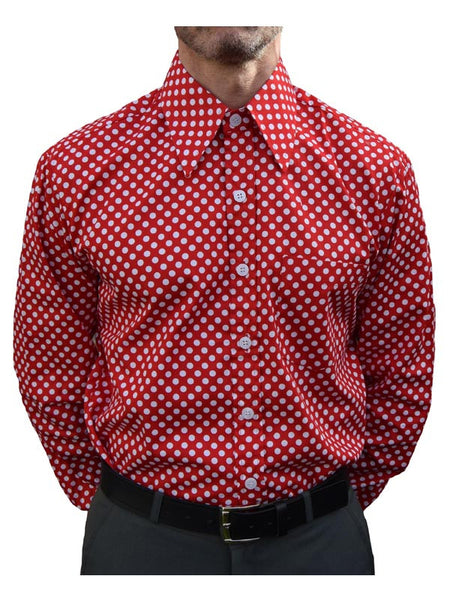 Chenaski Red & White Polka Dot Shirt