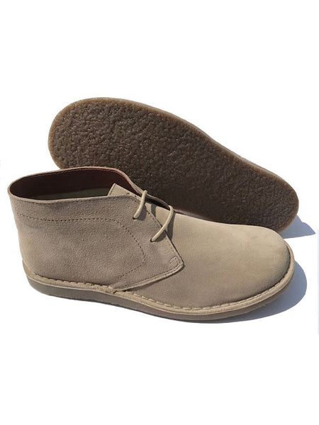 Delicious Junction Crowley Beige Suede Desert Boots
