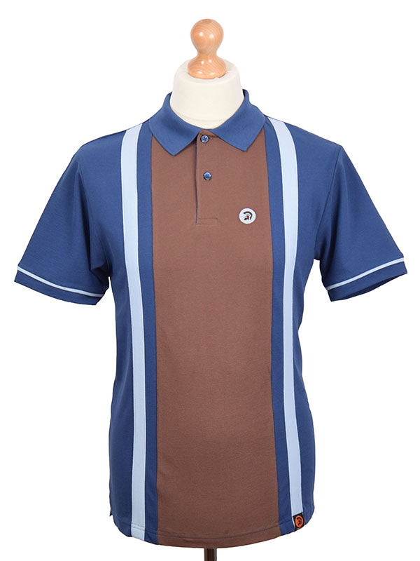 Trojan Records Electric & Chocolate Front Stripe Polo Shirt