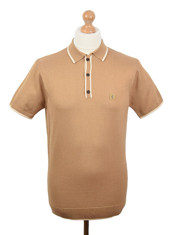 Gabicci Vintage Butterscotch Tipped Polo Shirt