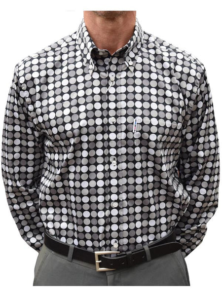 Get Up Black & Grey Dots Shirt