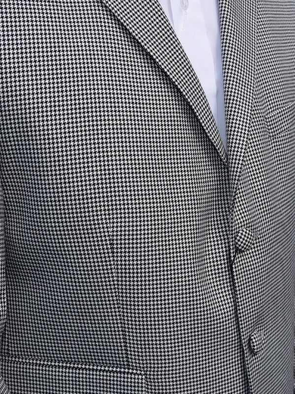 Get Up Black Dogtooth Single Breasted Suit